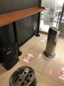 ファミリーマート田町東口店 喫煙所内部画像