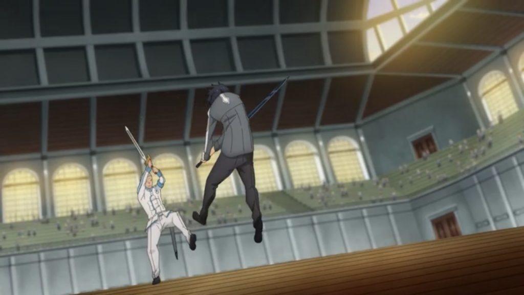 キリトとウォロが吹き飛ぶ画像