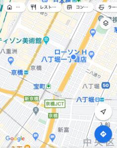 グーグルマップ 楓川久安橋公園画像
