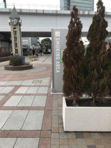 田端駅前指定喫煙所画像