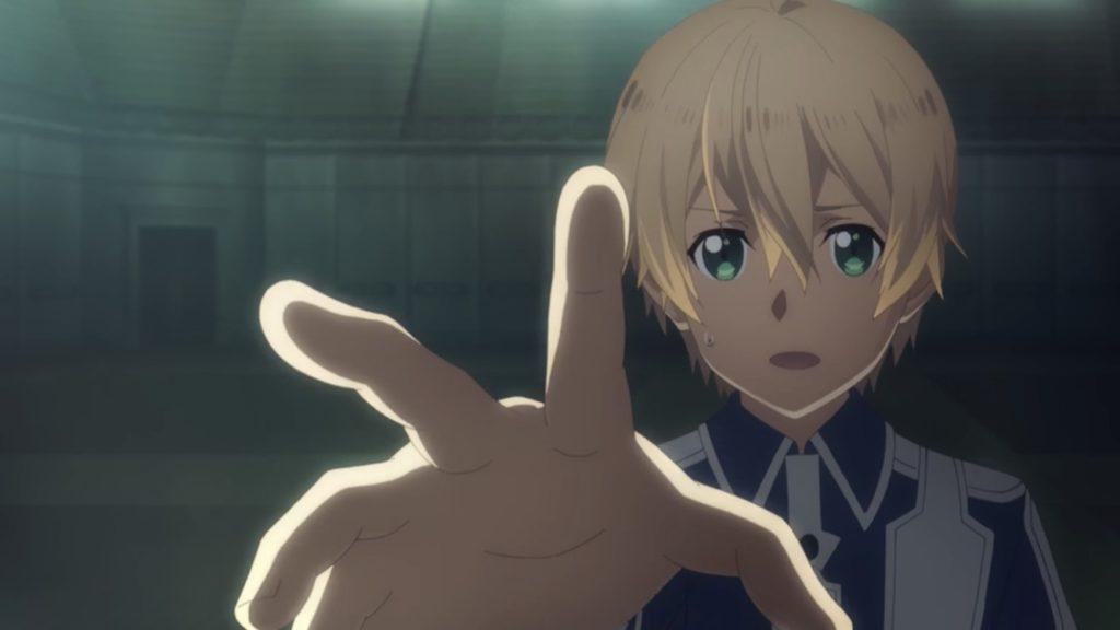 ユージオがアリスに手を伸ばす画像
