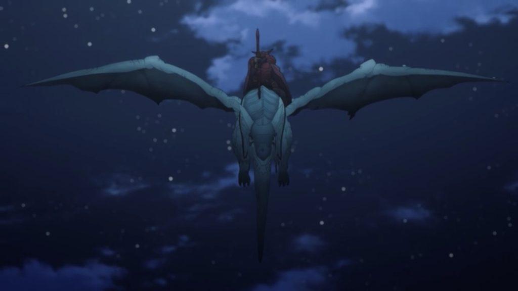 飛竜に乗った整合騎士画像