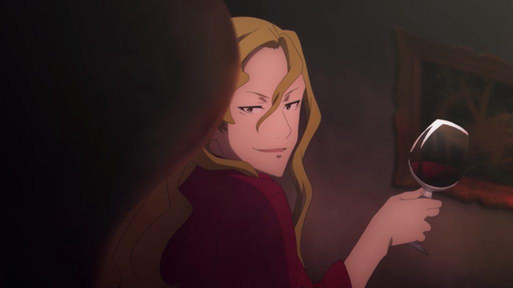 ライオスがワインを飲んでいる画像