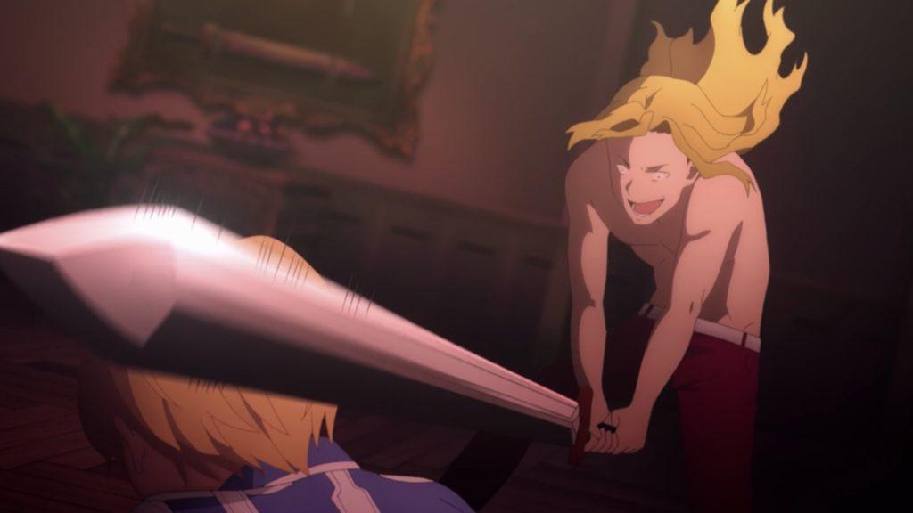 ユージオがライオスに首を斬られそうになる画像2