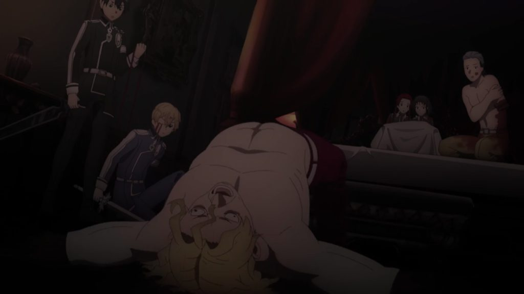 ライオス仰向けで死亡する画像