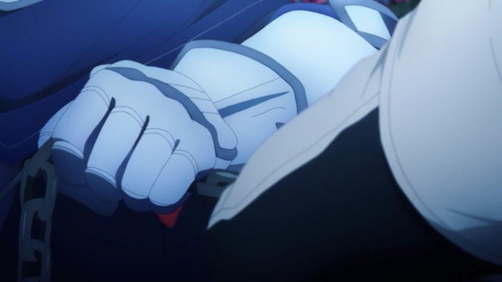 エルドリエの手から血が滲み出ている画像