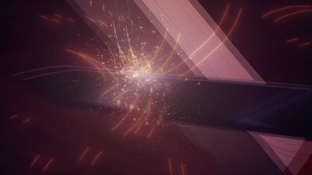 キリトの剣がライオスの剣を阻む画像