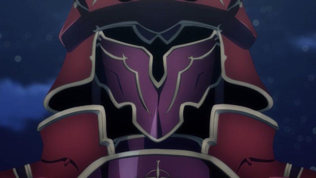 飛竜に乗った赤い鎧の整合騎士画像