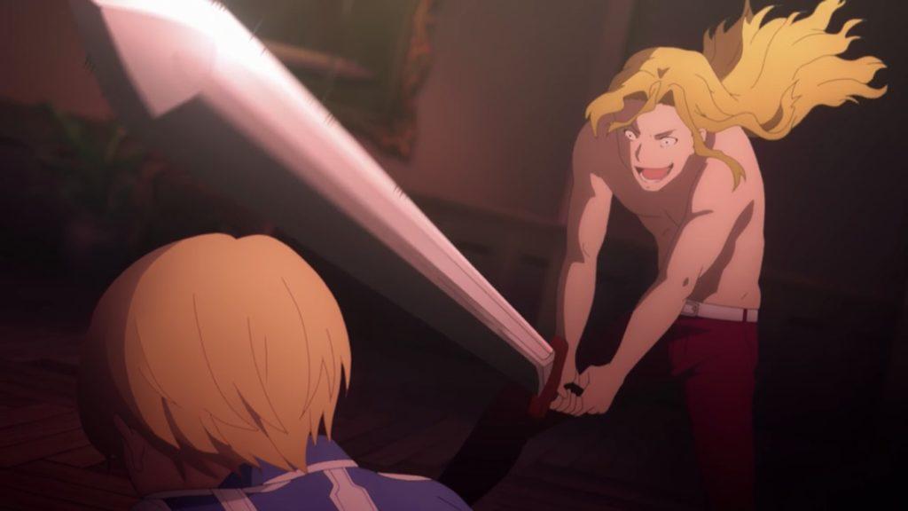 ユージオ、ライオスに首を斬られそうになる画像1
