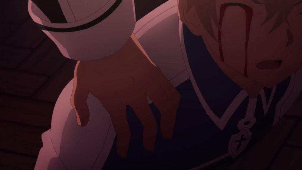 キリトがユージオの肩に手をかける画像