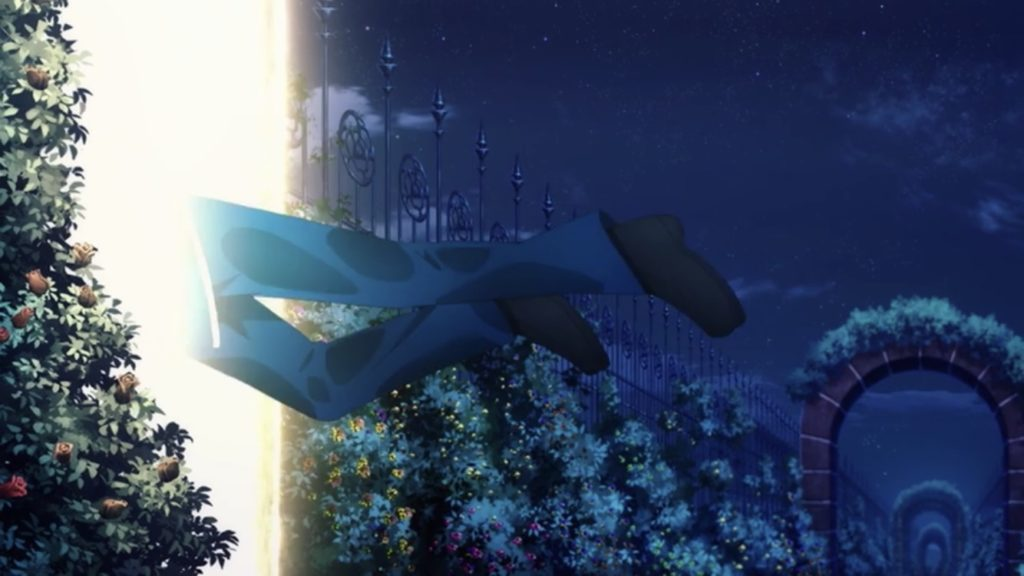 ユージオが光の扉に飛び込む画像