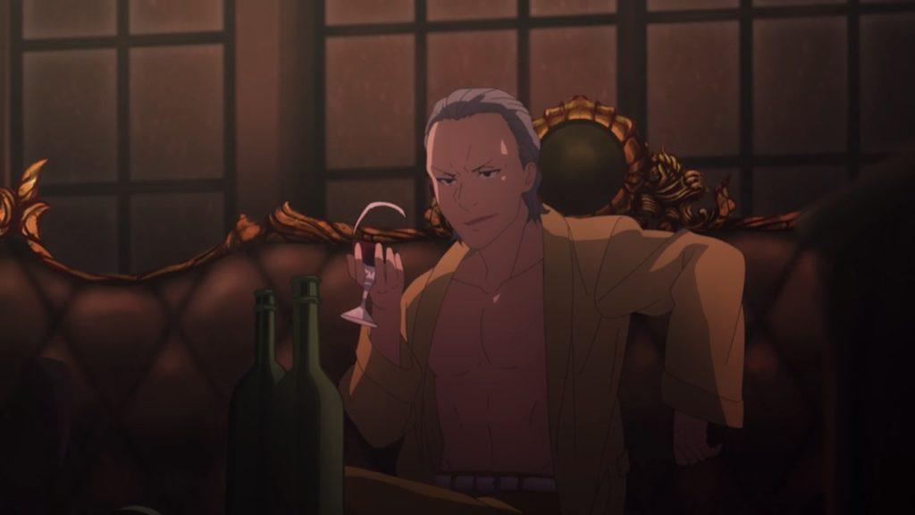 ウンベールがワインを飲んでる画像