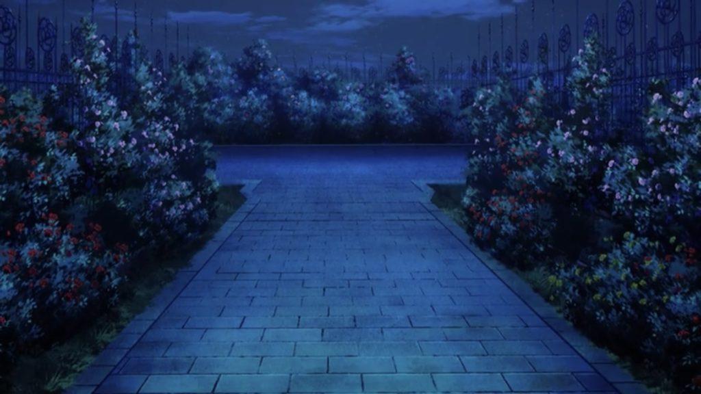 バラの庭園 分かれ道の画像