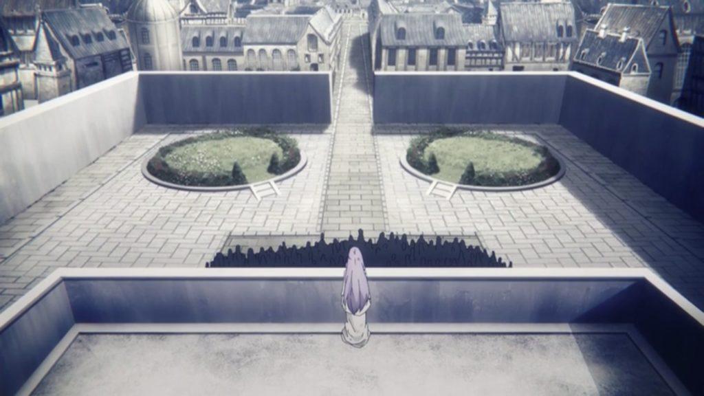 大理石の塔の上から民衆を見下ろすクィネラ画像