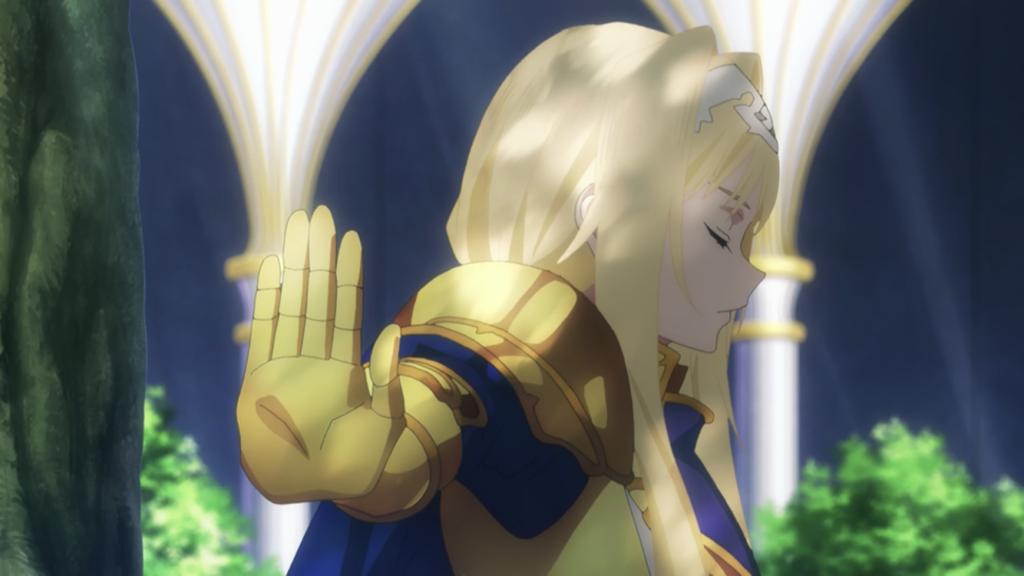 手を掲げるアリス画像
