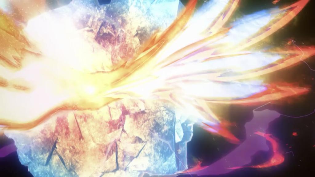 炎の矢が火の鳥に変化する画像