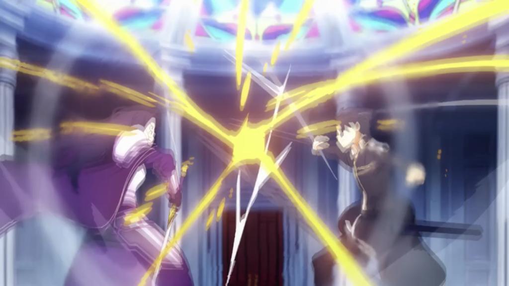 キリトとファナティオの高速剣での攻防画像