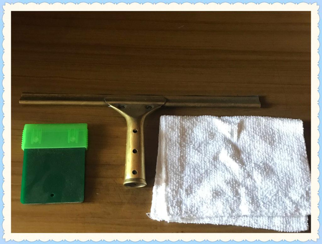 二枚刃ホルダー、スクイージー、ウェス(雑巾)画像
