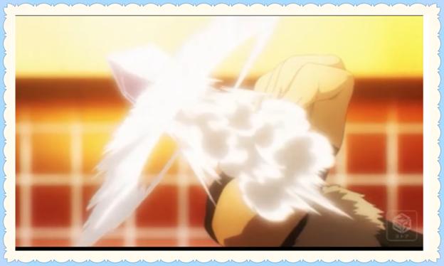 真由美の魔法ドライ・ミーティアがルー・ガンフゥに炸裂する画像